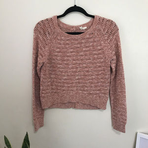 MOTH button back cropped sweater